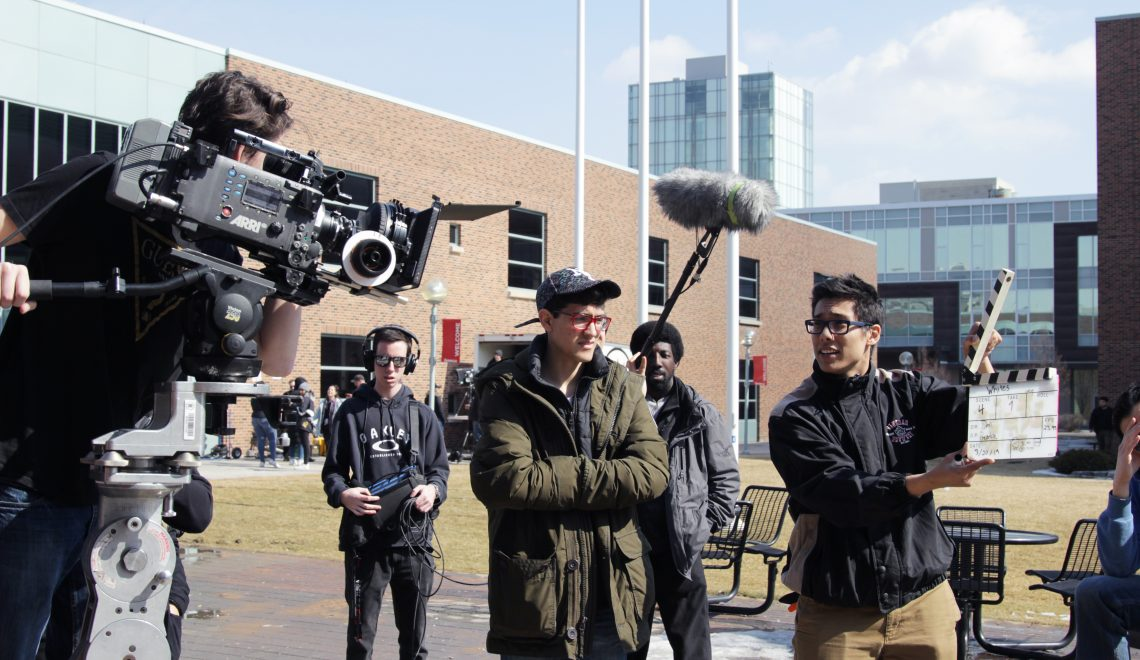 TV Students Turn Seneca@York into Film Set